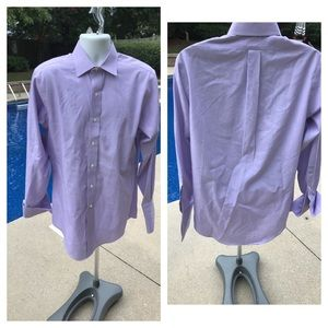 Brooks Brothers purple pinpoint Oxford